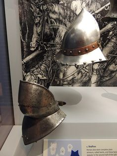 Kettle hat, Spanish, late 15th century. Bevor, West European, probably Spanish, about 1500.