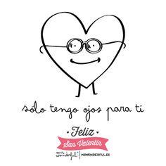 Solo tengo ojos para ti :) www.mrwonderfulshop.es #quote #illustration #funny