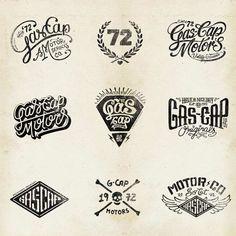 Gas Cap Motor's Branding by Alex Ramon Mas, via Behance