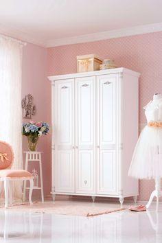 Cilek Romantic Kleiderschrank mit LED - Beleuchtung         Ein märchenhafter Kleiderschrank für romantische Mädchen und angehende Prinzessinnen. Dieser Traum in Weiß behütet geliebte Kleidungsstücke mit der Würde eines... #kinder #kinderzimmer #kleiderschrank #cilek