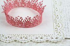 Royal Pastel Pink Queen Girls Crown   halloween by neesiedesigns, $17.00