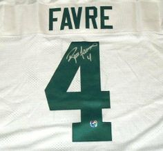 Brett Favre Hand Signed Packers White Jersey . $631.75. This White Green Bay Packers Authentic Reebok Jersey has been Hand Signed by Brett Favre. The Jersey will include the Brett Favre holograms affixed to the jersey, the photo of Brett Favre signing our Jerseys and a Certificate of Authenticity from Brett Favre & Creative Sports Ent, Inc with matching holograms on the jersey and certificate.