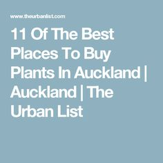 11 Of The Best Places To Buy Plants In Auckland | Auckland | The Urban List