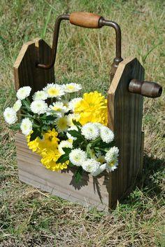 Vintage Toolbox Flower Holder