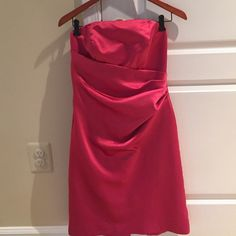Prom or bridesmaid dress from David Bridal Beautiful vibrant color, size 6. Very flattering and hugs in all the right places. David's Bridal Dresses Strapless