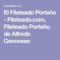 El Fileteado Porteño - Fileteado.com, Fileteado Porteño de Alfredo Genovese