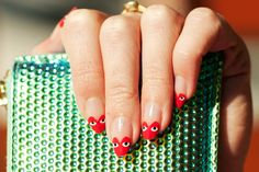 Really not into nail art but these Comme des Garcons Play Nails by ebmonson are too cool. via Flickr