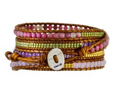 Agate, Crystal and Seed Bead Wrap Bracelet