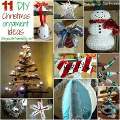 11 homemade Christmas ornament ideas plus simple decor and so many more DIY tutorials and projects for everyone ... a great resource for any do it yourselfer