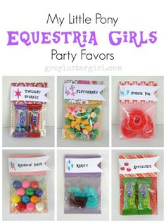 my little pony equestria girls party favors