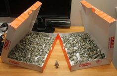 The unidentified videomaker folded  137 origami pigs put of dollar bills to pay for his traffic ticket.