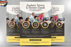 Academic Studies Flyer Template by FlyerHeroes on @creativemarket