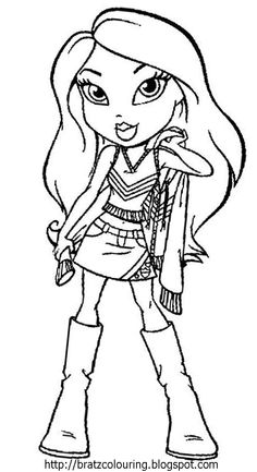 Bratz Coloring Pages | Learn To Coloring | Printables Digi Cards ...