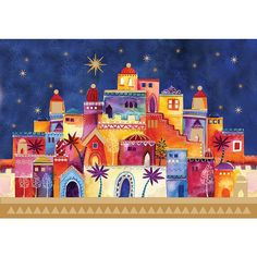 bethlehem in first christmas card | Bethlehem at Night | Christmas cards | Macmillan Cancer Support
