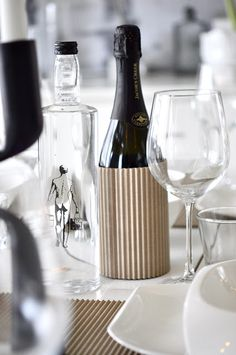 #cardboard wine cozy