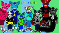 The Crazy Crew notice how their all wearing socks of the same color except rainbow All characters belong to me their all mine  property of WOLFIEthePartyAnimalGamer