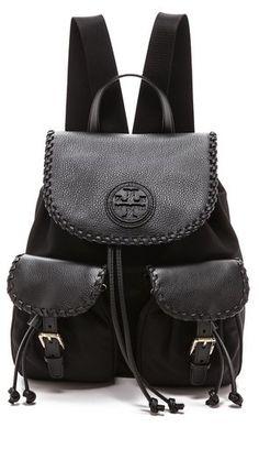 92999e4a3b Tory Burch Marion Nylon Backpack Rucksack Bag