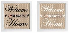 Vinyl Sticker for DIY Box Frame WELCOME TO OUR HOME - Moving in Gift - New Home #Unbranded #Calligraphyscriptwriting