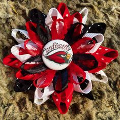 Arizona Cardinals Hair bow on Etsy, $4.50