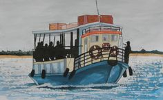 """Ferry boat"" 2012; Watercolor on paper; 21x30cm"