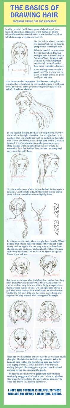 Basic Hair Tutorial by ~red-jello04 on deviantART by alison