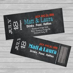 TICKETS - Entry. Jack and Jill - STAG and Doe -Fundraiser - CUSTOM - Print - Digital Wedding Themes, Wedding Events, Wedding Ideas, Buck And Doe Games, Country Themed Parties, Raffle Baskets, Gift Baskets, Stag And Doe, Ticket Template