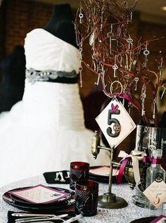 13 Steampunk Wedding Table Numbers | HappyWedd.com