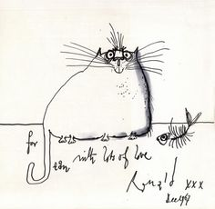 SEARLE (RONALD) Searle's Cats, FIRST EDITION, AUTHOR'S PRESENTATION COPY SIGNED WITH ORIGINAL FULL-P