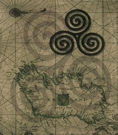 Title  The Triple Spiral Celtic Symbol  Artist  Kandy Hurley  Medium  Photograph - Prints