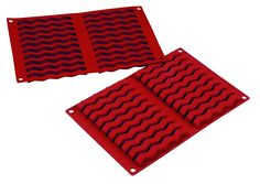 20 Cavity Zigzag Bar Non Stick Silicone Baking Mould, Ideal for Cake, Dessert, Ice Cream, Chocolate, Fondant, Soap etc - by Silicone-Bakeware *** Startling review available here  : Small Pastry Molds