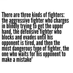 The Three Types of Fighters