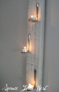 CRAFT OF THE DAY: HANGING TEA LIGHTS  Stylelist Home  |  By KAITLYN DAVIS    For more photos and spoon-bending tips, visit Spruce Your Nest. And, be sure to check out the other great crafts in our Craft Of The Day slideshow