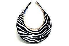 Ladies Medium Clip-on Visor Safari Collection - Black/Zebra by Dolly Mama Designs.  Buy it @ ReadyGolf.com.