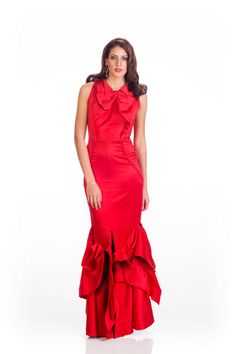 Doron Matalon Miss Israel in evening dress for Miss Universe.