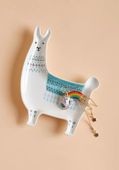 Llama, I'm Coming Home Ceramic Dish, #ModCloth