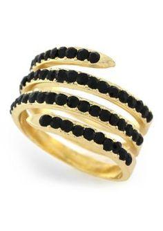 BCBGeneration  Gold-Tone Jet Coil Ring