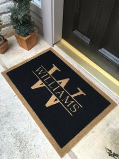 Ordinaire The Most Durable And Elegant Custom Door Mat Available. Infinity Custom  Door Mats...The Door Mat You Can Keep Forever. Makes A Perfect Gift!