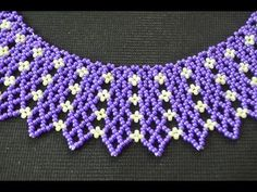 Netting separated by flowers. (Russian, but clear enough)  ~ Seed Bead Tutorials
