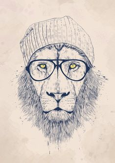 """$9.99 AUD - 016 Cool Lion Animal Hipster 24""""X34"""" Poster #ebay #Collectibles"""