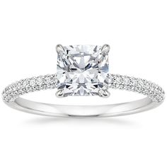 18K White Gold Valencia Diamond Ring from Brilliant Earth