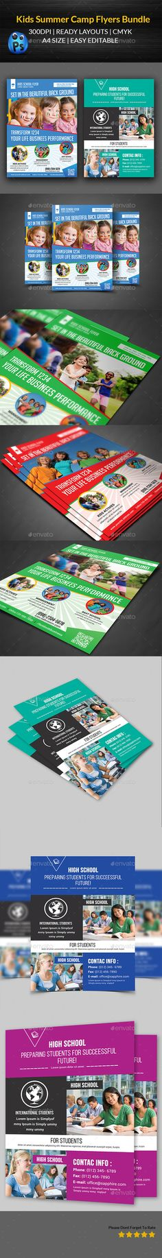 Kids Summer Camp Flyer  Flyer Printing Print Templates And Edit Text