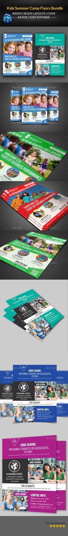 Kids Summer Camp Flyer Bundle Flyer template - summer camp flyer template