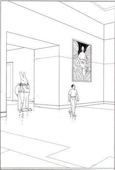 """Moebius - From """"Le Chasseur déprime"""" Stardom Editions, Paris 2008"""