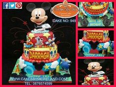 Darragh celebrated his first Birthday over the weekend with this 3 tier Mickey Mouse Cake from Cakes By Me