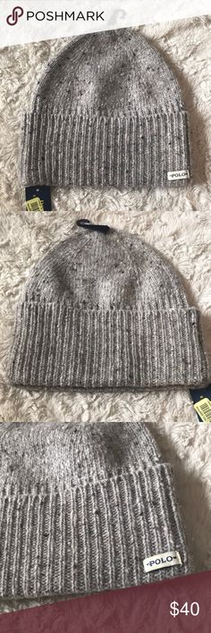 Polo Ralph Lauren Men's Hat NWT One Size Polo Ralph Lauren  Color Light Gray/ Oatmeal  New with tags Authentic Ralph Lauren product.    Retails for $55 65% wool - 30% nylon - 5% alpaca SIN : GRE Polo by Ralph Lauren Accessories Hats