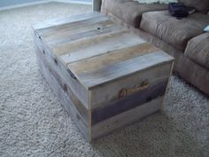 DIY Fence Board Coffee Table. This is the awesome one my sister made.