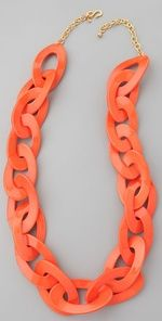 coral link necklace