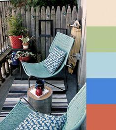 Dale un poco de color a tu terraza