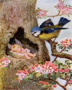 fairy nesting under the watchful eye of a bird..*:)