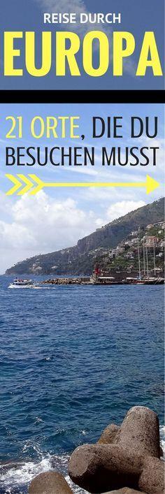 Reise durch Europa: 21 Orte, die du besuchen musst Journey through Europe: 21 places to visit Honeymoon Tips, Honeymoon Cruise, Honeymoon Swimsuit, Travel Through Europe, Travel Around The World, Places To Travel, Places To See, Europe Places, Destinations D'europe
